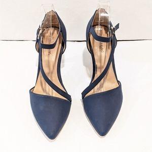 Call It Spring navy blue heels pumps sz 7.5
